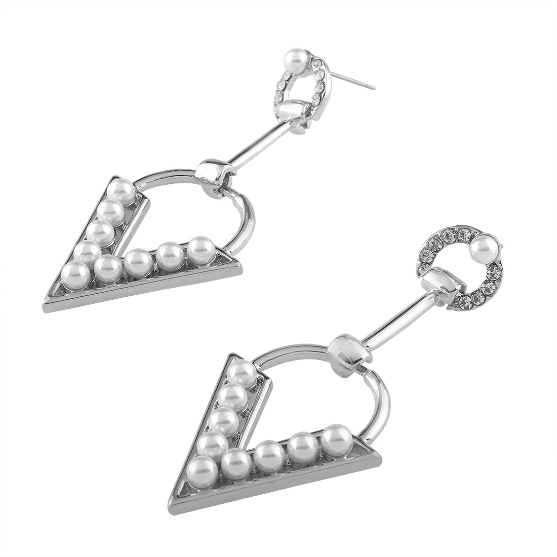 Occident and the United States alloy plating earring (White k)NHNMD3776-White k