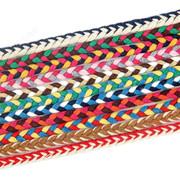 【三色辫子棉绳】现货供应7毫米民族风格装饰7mm辫子花边棉绳