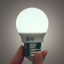 批发省电迷你 3W LED球泡灯 小夜灯台灯专用 E27灯头