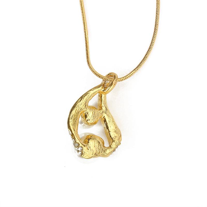 Fashion simple rhinestone drop beads necklace earrings jewelry set NHDP147273