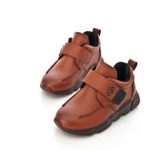 2017秋冬新款男童鞋真皮韩版潮流圆头皮鞋舒适透气防滑棉鞋中大童