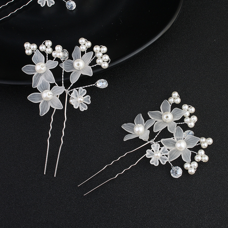 Alloy Fashion Flowers Hair accessories  (white) NHHS0228-white