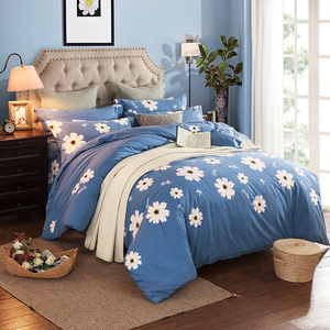 Manufacturers selling four pieces of cotton peached cotton thickened active printing bedding sets special offer