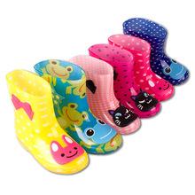 Ngoại thương trẻ em đi mưa mưa ủng nhà máy trực tiếp PVC thấp ống nước trẻ em xuất khẩu giày cao su Giày đi mưa