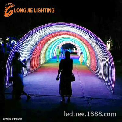 长:20.0米 宽:8.0米 灯光节时光隧道,音乐变换隧道 LED幻彩灯带