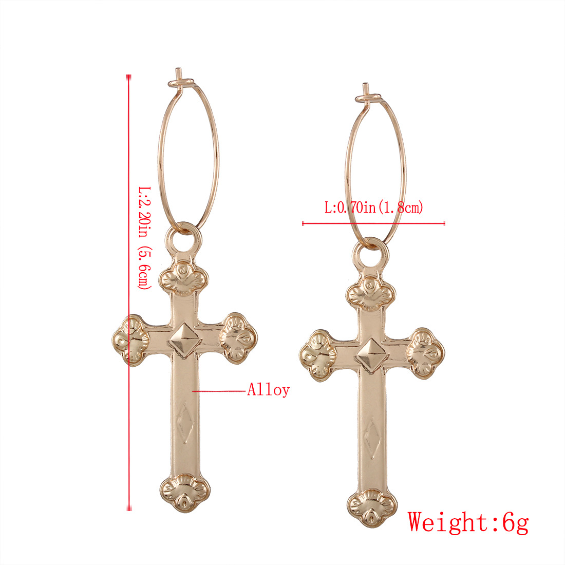 Simple alloy plating earring (Gold)NHNMD3807-Gold
