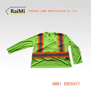 A-SAFETY反光安全T恤衫 荧光POLO衫 3M反光阻燃T恤衫 反光汗