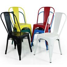 欧式椅复古铁艺餐椅铁皮椅子海军椅休闲酒吧咖啡靠背快餐店铁艺椅