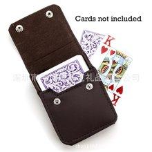 高档皮革扑克牌盒子 pu牌盒 香烟盒