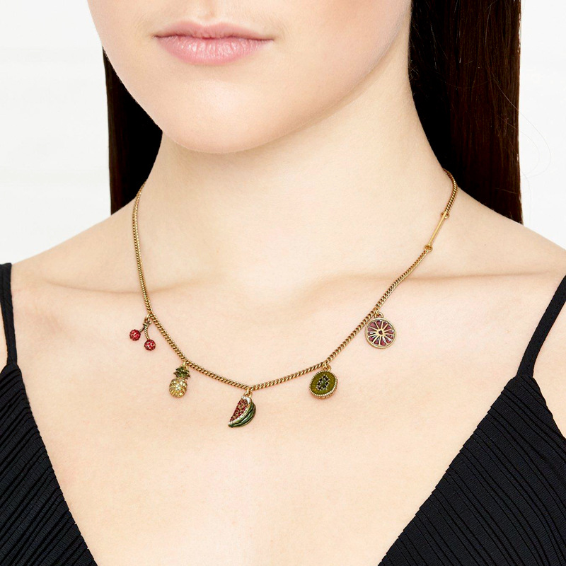 Occident and the United States alloy Dijiao necklace NHQD3965