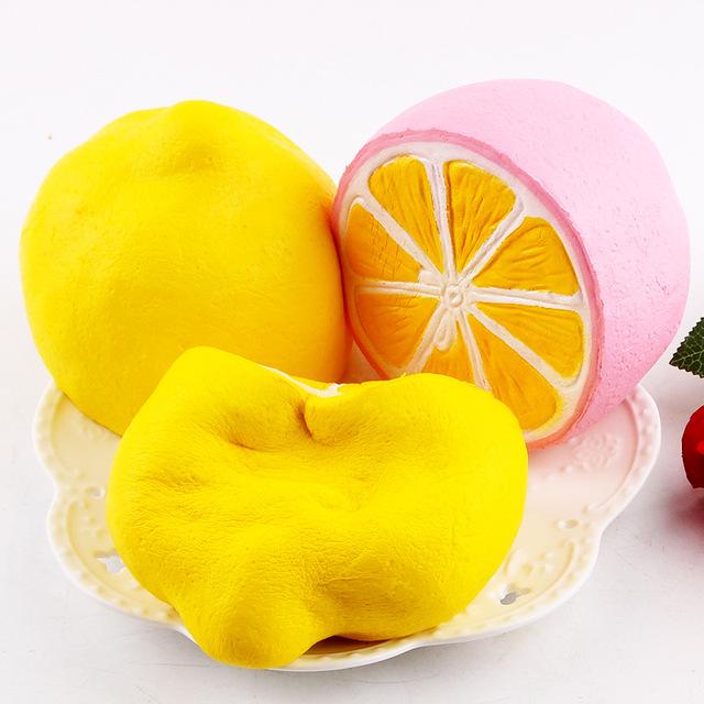 新款squishy PU仿真慢回弹半个大柠檬 仿真水果减压玩具摆件