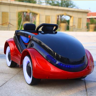 新款儿童电动汽车 四轮太空车双驱动 遥控男女摇摆小孩玩具车批发