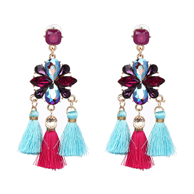 Other Imitated crystal&CZ  Earrings Flowers (50418 color)  NHJJ3786-50418 color