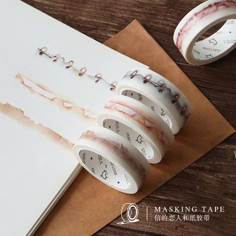 信的戀人 和紙膠帶 功能紙邊系列 復古 日本手帳貼紙DIY裝飾 15mm工廠,批發,進口,代購