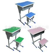 单人双人学生课桌椅学校课桌椅批发培训班辅导班书桌批发厂家直销