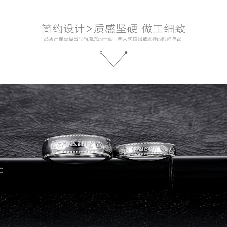 Titanium&Stainless Steel Fashion Geometric Rings  (Male models on the 9th) NHOP1635-Male models on the 9th