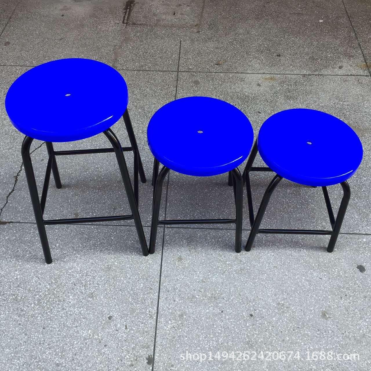 厂家直销工厂流水线防静电凳子 防静塑胶圆凳 防静电铁脚圆凳