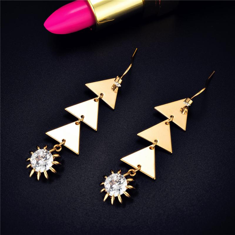Star street shoot metal plating earring (Rose gold)NHIM0925-Rose gold