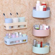 Bắc Âu mạnh mẽ lưu trữ kệ Velcro tường nhà bếp phòng tắm lưu trữ giá giá Xả chân Kệ