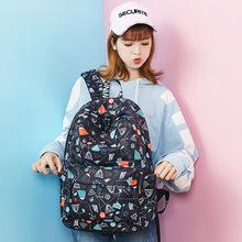 WINNER/优胜者双肩包女书包学生韩校园帆布旅行休闲2017新款背包