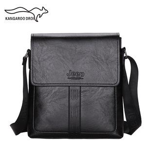 2021JEEP men's business messenger bag simple solid color fashion trend new shoulder bag men's diagonal bag