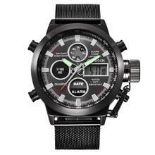XINEW品牌男表速卖通男士皮带LED电子表厂家现货批发外贸运动手表