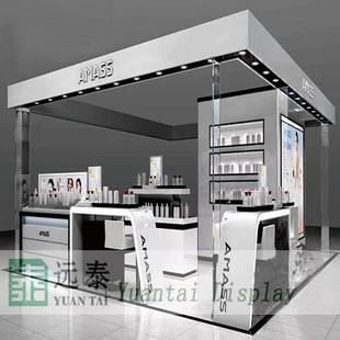专业制作化妆品展示柜|护肤品展示柜设计效果图G-D85