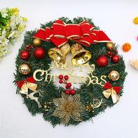 30CM торговый центр отель супермаркет украшение рождественские украшения рождественские венок производители оптовые продажи дверь Висячие кольца ротанга