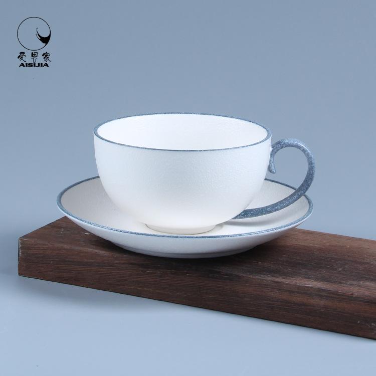 雪花釉素雅咖啡杯 欧式个性陶瓷咖啡杯碟套装下午茶具日式茶杯