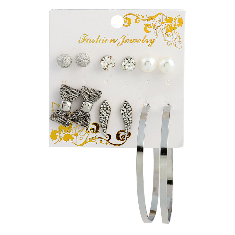 Fashion OL alloy plating Jewelry Set (Silver)NHNNZ3029-Silver