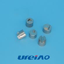 威道专业金属粉末冶金注射不锈钢锁具配件 精密转轴件 可加工定制