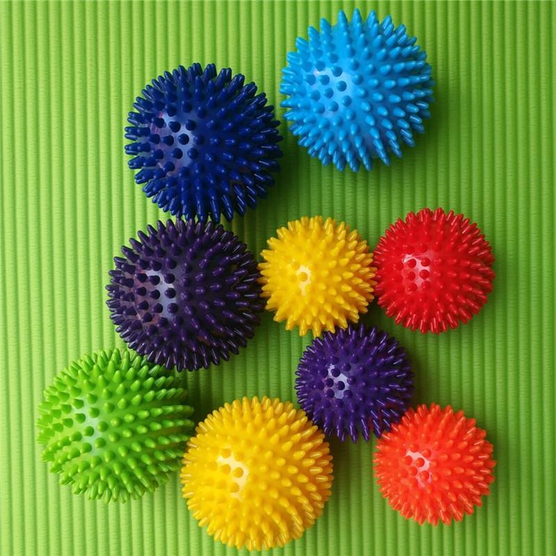 7.5cm9.5cmPVC刺球按摩穴位握力球尖钉子筋膜瑜伽球健身球?#39064;?#29699;