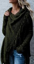 2018秋冬歐美外貿女裝速賣通亞馬遜wish爆款斜肩外套毛衣針織衫女