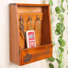创意桌面放钥匙收纳盒门口玄关客厅家用遥控器手机挂架挂墙壁挂式