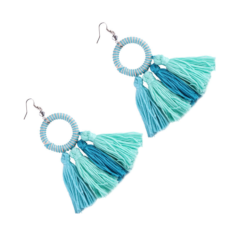 Korea style alloy hand made earring (Color 3)NHJQ9188-Color 3