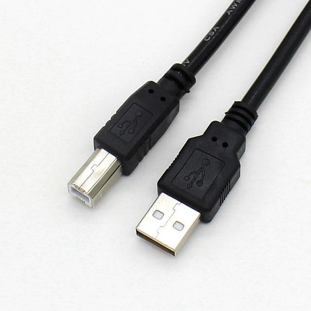 鑫业缘 USB 2.0打印线 1.5米 黑色 镀镍头A-B 打印机数据线