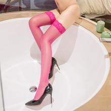 廠家批發蕾絲花邊過膝長筒襪包芯絲性感超薄女士歐美情趣絲襪包郵
