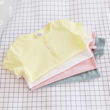 2017夏季童裝一件代發 童裝童T恤糖果4色純棉短袖童短袖TP170K