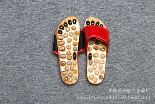 Manufacturers wholesale natural pebbles, jade, agate stone acupoints, massage slippers can be customized, can be printed with LOGO