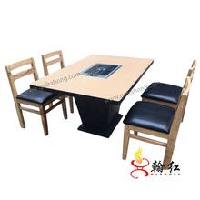 翰红 批发火锅桌 电磁炉火锅餐桌 美国UL电磁炉