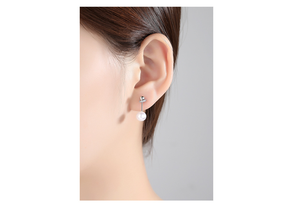 Alloy Simple Geometric earring  (Platinum-T07E17) NHTM0457-Platinum-T07E17