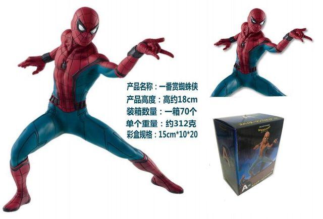 复仇者联盟 英雄归来 返校季 一番赏蜘蛛侠 手办模型 盒装公仔