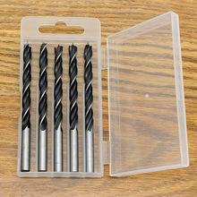 木工钻头三尖钻 木料开孔钻孔工具 清边钻 直径6mm5支盒装套装
