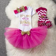 欧美热销新款女童宝宝生日服棉英文上衣+网纱裙子四件套套装直批