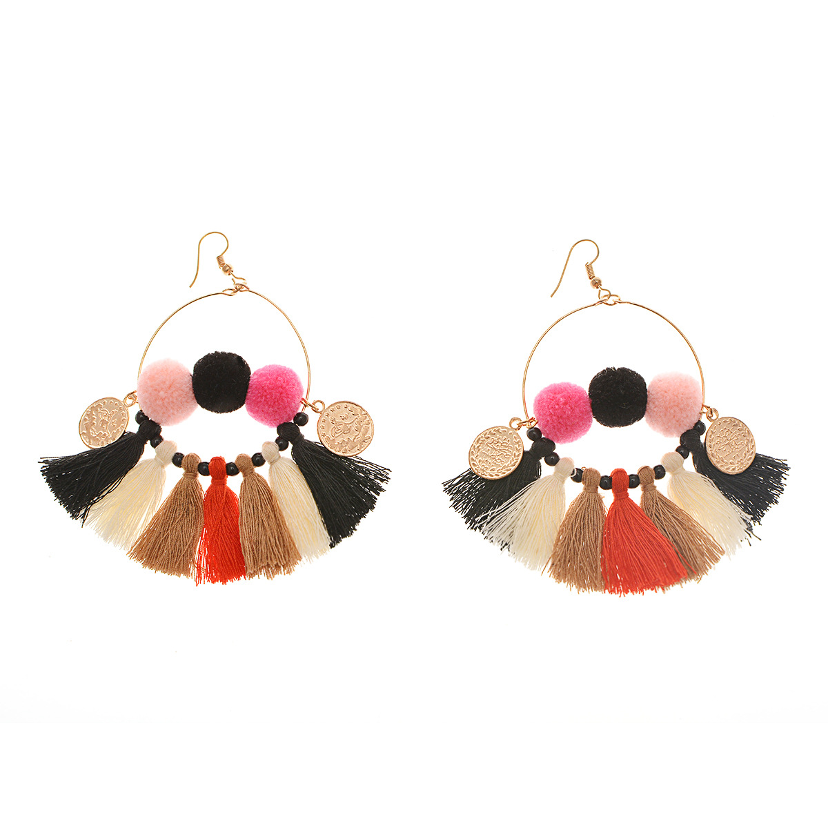 folk-custom alloy plating earring (B0844 color mixing)NHXR1487-B0844 color mixing