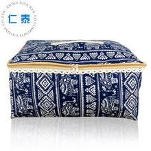 厂家批发定制欧式复古印花帆布袋 加厚蕾丝边被子收纳袋卧室收纳