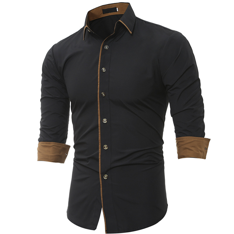 Autumn and winter men's shirt new classi...