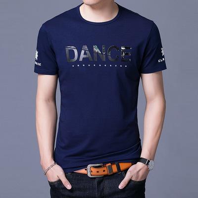 艾蒂思顿2019夏新款男式圆领短袖T恤时尚潮流男式短袖t恤厂家直销