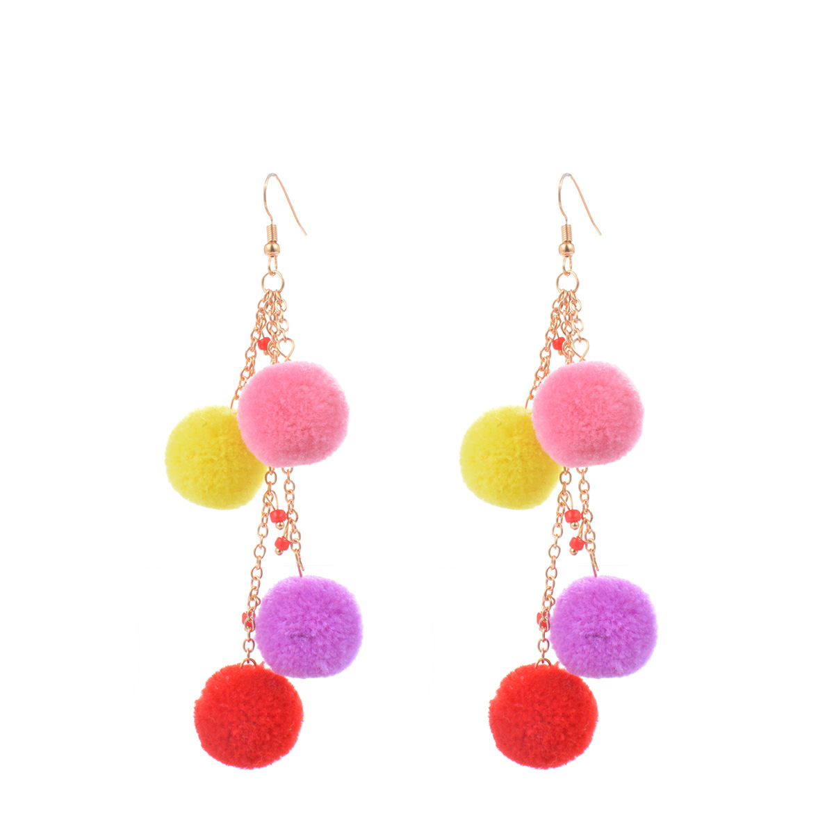 Occident and the United States alloy plating earring (B0746 color)NHXR1488-B0746 color