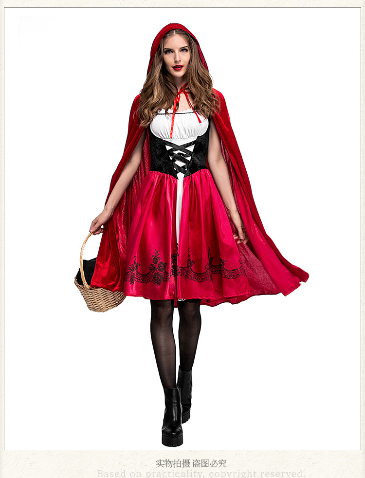 Halloween Little Red Riding Hood Costume Adult Cosplay Dress Party Pack NHFE153910